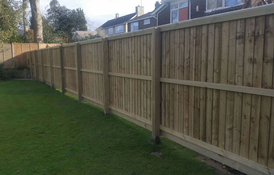 Closeboard fencing piling structural services