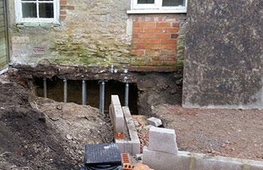 Underpinning piling structural services for Stilt house foundation